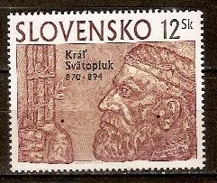 Timbre: 1100e anniv. de la mort du Roi Svatopcuk 1er