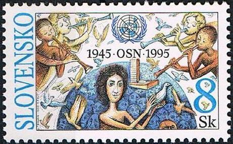 Timbre: 50 ans de l'ONU