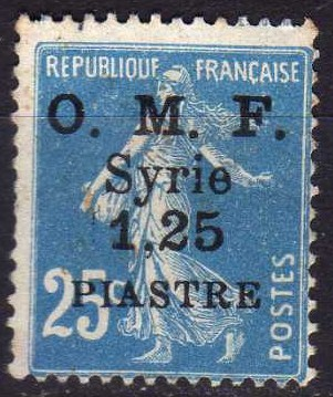 Timbre: Timbre de France surchargé