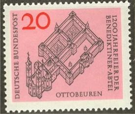 Timbre: Abbaye d'Ottobeuren
