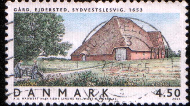 Timbre:  Manoir d'Ejdersted, Sydvestslesvig 1653