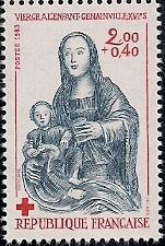 timbre: Vierge à l'enfant