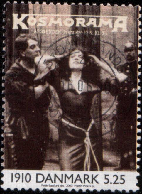timbre: Revue ''Kosmorama'' 1910, scène de film