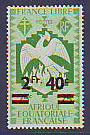 timbre: Série de Londres - 25c surchargé 2f40c