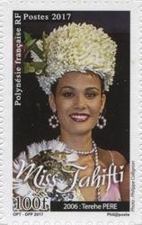 Timbre: Miss Tahiti - Terche père