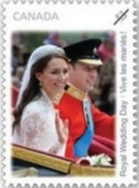 Timbre: Mariage Princier du Prince de Galles  ADH