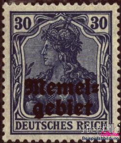 Timbre: Reich - surchargé Memelgebiet