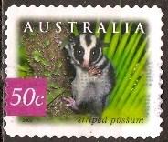 Timbre: Opossum rayé d. 12 1/2 13 adhésif  (2)