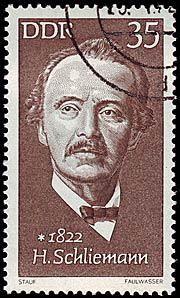 Timbre: Heinrich Schliemann