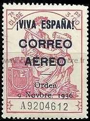 Timbre: I VIVA ESPANA CORREP AEREO