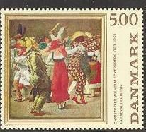 Timbre: Carnaval a Rome en 1810, d'Eckersberg
