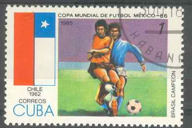 Timbre: Coupe du monde de football à Mexico 1986