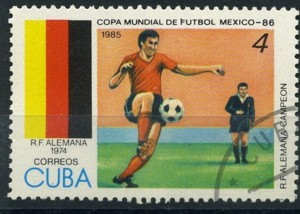 Timbre: *Coupe du monde de football : Mexico 86