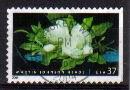 Timbre: Fleur de magnolia (non dentelé bas et droite)