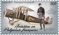 Timbre: Aviation en  Polynésie française