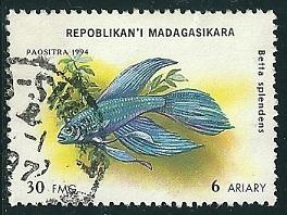 Timbre: Poissons d'aquarium