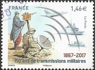timbre: 150 ans des services de transmission