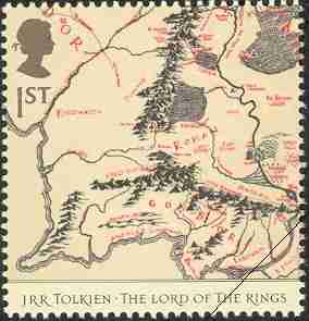 timbre: Le seigneur des anneaux : Carte