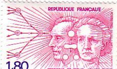 timbre: Frédéric et Irène joliot-Curie