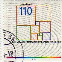 timbre: Congrès de mathématiques de Berlin