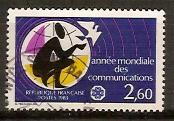 timbre: Année mondiale des communications