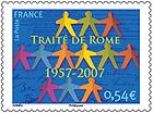 Timbre: Traité de Rome