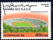 Timbre: Olymphilex 96: Stadium Olympique Rome