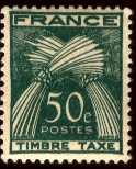 Timbre: Type Gerbes - légende Timbre Taxe