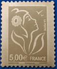 Timbre: Marianne de Lamouche argent