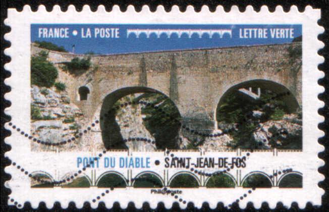 Timbre: Pont du Diable, Saint-Jean-de-Fos