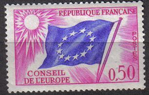 Timbre: Drapeau du Conseil de L'Europe
