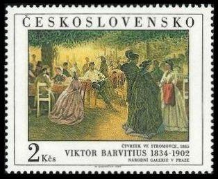 Timbre: Stromovka jeudi 1865 - Viktor Barvitius 1834-1902