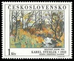 Timbre: Milevsko Brook 1954 - Karel Stehlik 1912