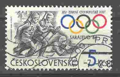 Timbre: JO de Sarajevo - biathlon