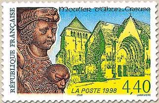 Timbre: Millénaire de l'Abbaye de Moutier d'Ahun (Note)