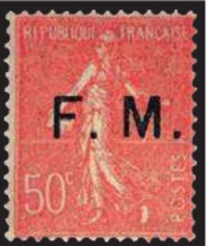 timbre: Franchise militaire ( rouge )