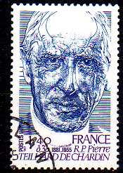 Timbre: R. P.  Pierre Teilhard de Chardin