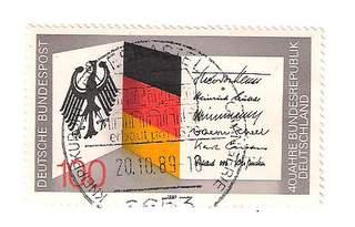 Timbre: 40ème anniversaire de la république fédérale allemande