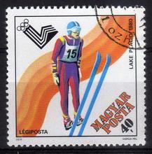 Timbre: JO d'hiver 1980, à Lake Placid. Saut à skis