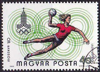 Timbre: J.O. de Moscou, handball