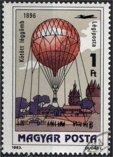 Timbre: Ballon militaire de 1896