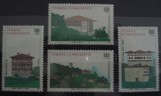 Timbre: (0687) MAISONS TRADITIONNELLES (serie complete)