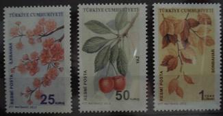 Timbre: (0699) Branches d'arbres des quates saisons (3 valeurs)
