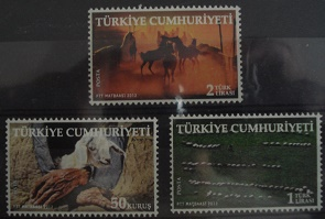 Timbre: (0700) Animaux (3 valeurs)