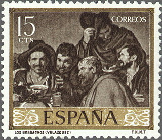 Timbre: Les ivrognes, par Diego da Silva Velazquez   (1)