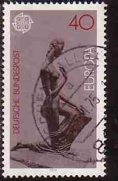 Timbre: Europa - sculpture de W. Lehmbruck