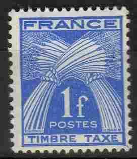 Timbre: Taxe type Gerbes