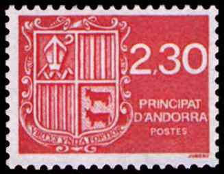 Timbre: Blason d'Andorre
