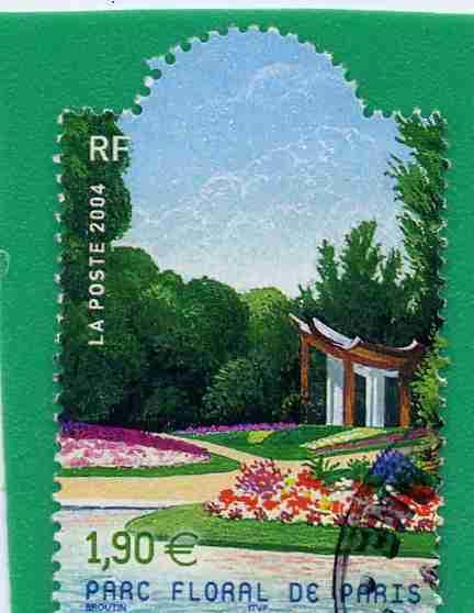 Timbre: Jardins de France : Le Parc floral de Paris