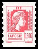 Timbre: 60ème anniversaire de la Marianne d'Alger Adhésif